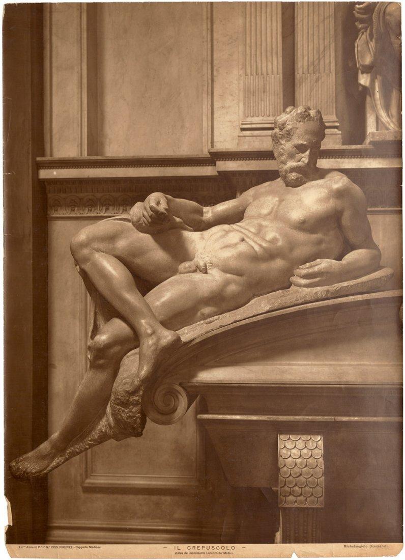 Alinari, Fratelli: Michelangelo figures of Tomb of Lore