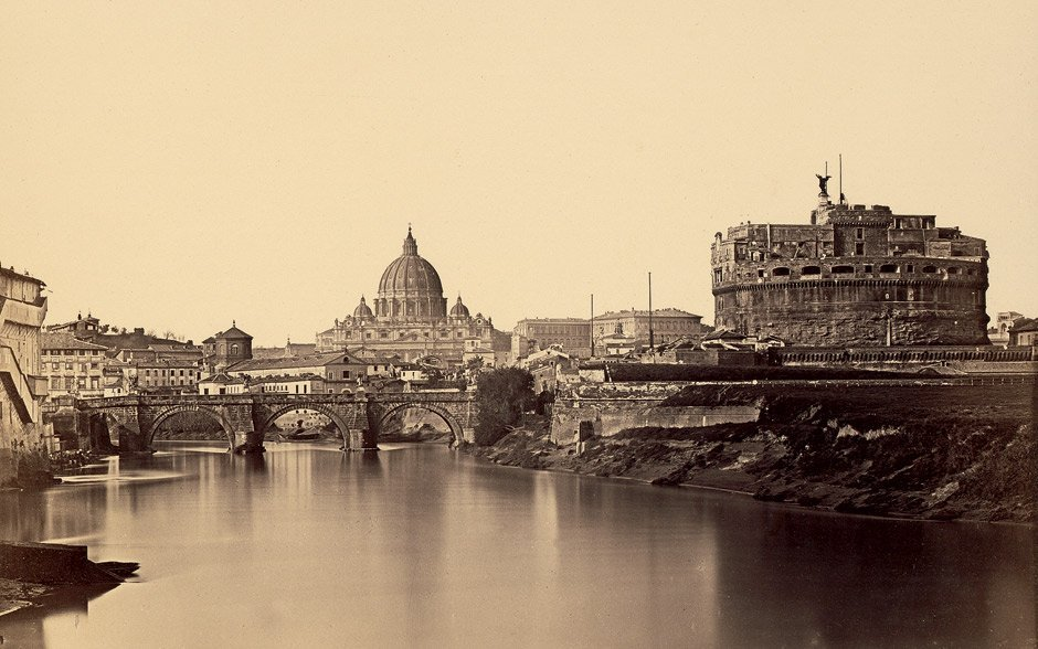 Anderson, James: View of Rome over the Tiber river with