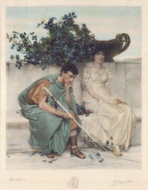 5672: Alma-Tadema, Sir Lawrence - nach: Eine römische L