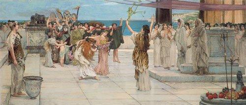 5673: Alma-Tadema, Sir Lawrence - nach: Weihe zur Bacch
