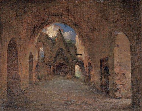 5679: Berlin: Blick in eine Kirchenruine