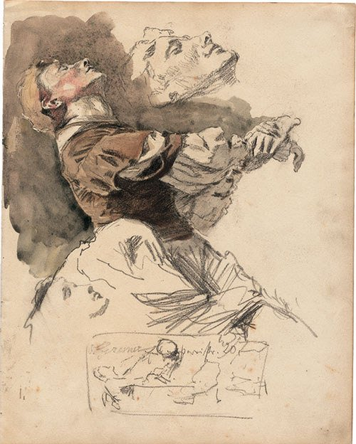 5731: Greiner, Otto: Studienblatt mit einer Frau