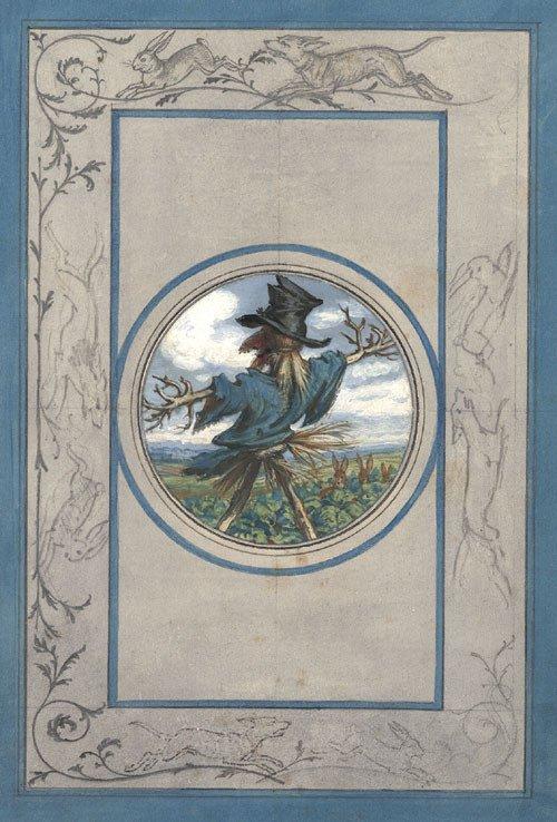 5790: Pocci, Franz Graf von: Entwurf für einen Buchumsc