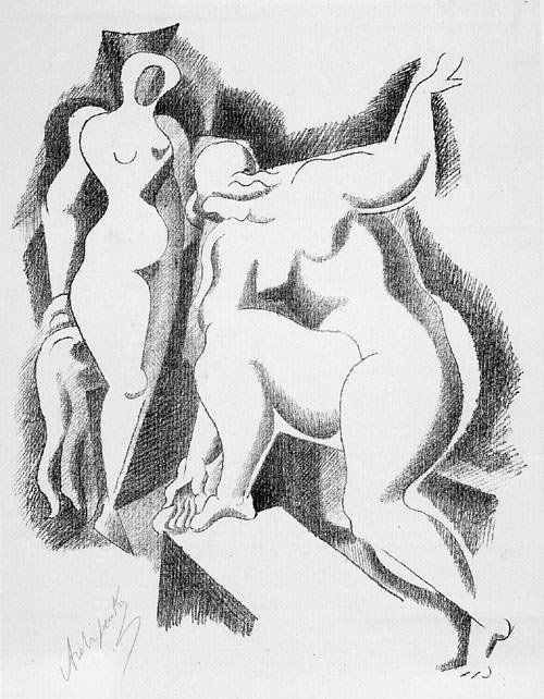6510: Archipenko, Alexander: Two female Nudes