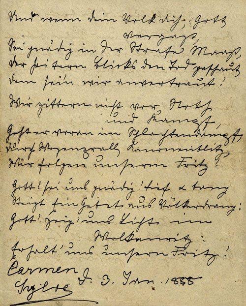 2005: Carmen Sylva: Gedichtmanuskript 1888
