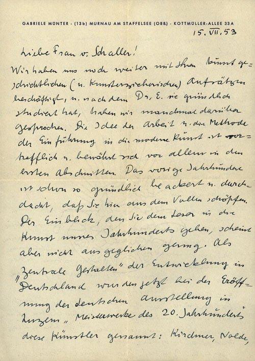 2229: Münter, Gabriele: Konvolut von 18 Briefen u. 4 Po