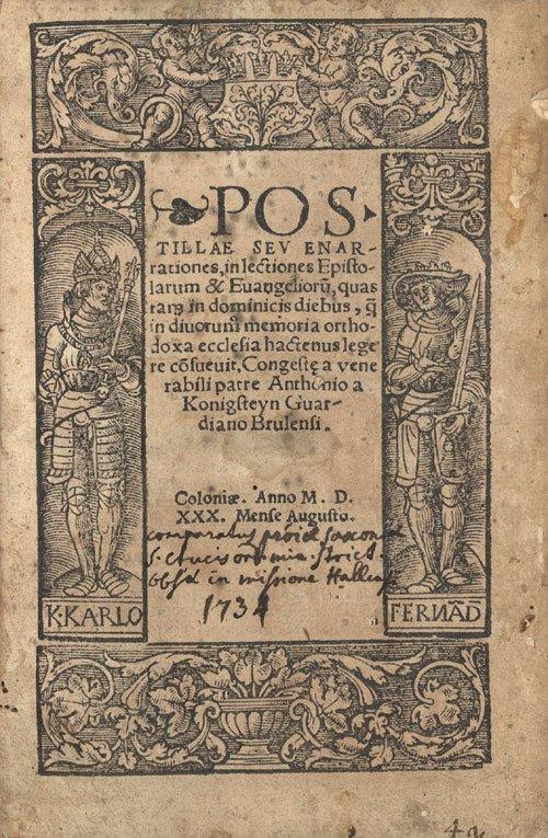 803: Broickwy von Königstein, Antonius: Postillae seu e
