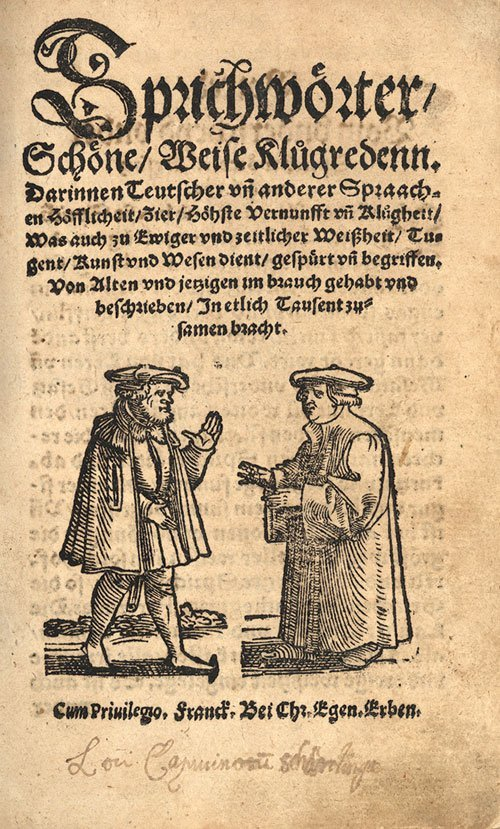 809: Franck, Sebastian: Sprichwörter