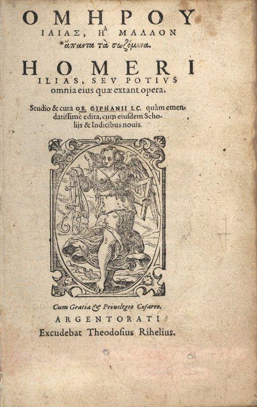 812: Homer: Ilias graece & latine