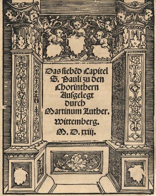 821: Luther, Martin: Das siebe(n)d Capitel S. Pauli zu
