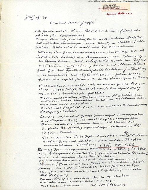 2507: Albers, Josef: A Retrospective + Beigabe