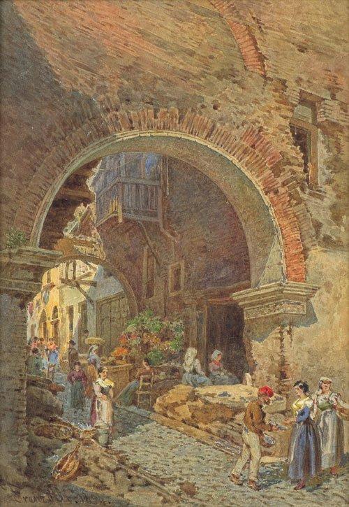 5641: Alt, Franz: Die alte Pescaria in Rom