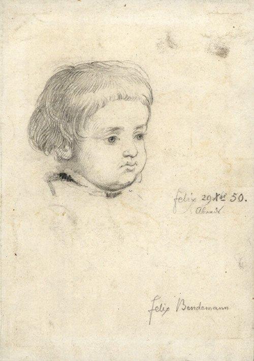 5645: Bendemann, Eduard: Bildnisse Felix und Ruth Bende
