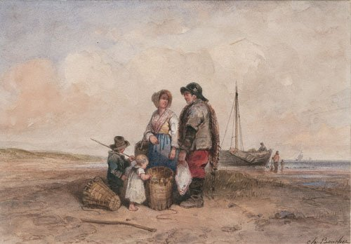 5647: Bouchez, Charles: Fischerfamilie
