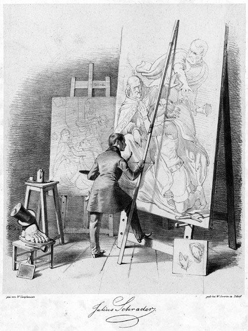 5651: Camphausen, Wilhelm: Der Maler Julius Schrader an