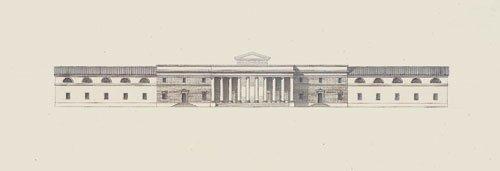 5653: Dardel, René: Architekturstudie zur einer antiken