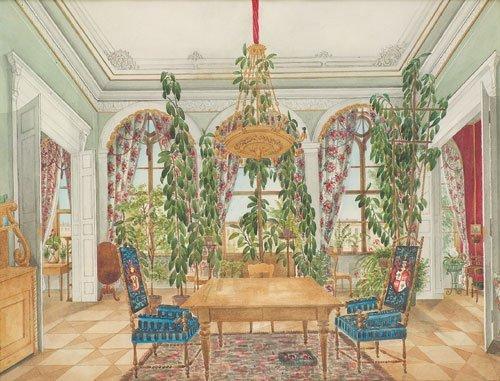 5657: Deutsch, um 1840: Interieur