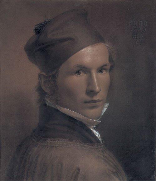 5664: Eichens, Eduard von: Selbstbildnis mit Kappe