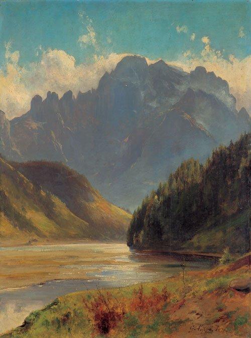 5971: Loppé, Gabriel: Ansicht der Schweizer Alpen