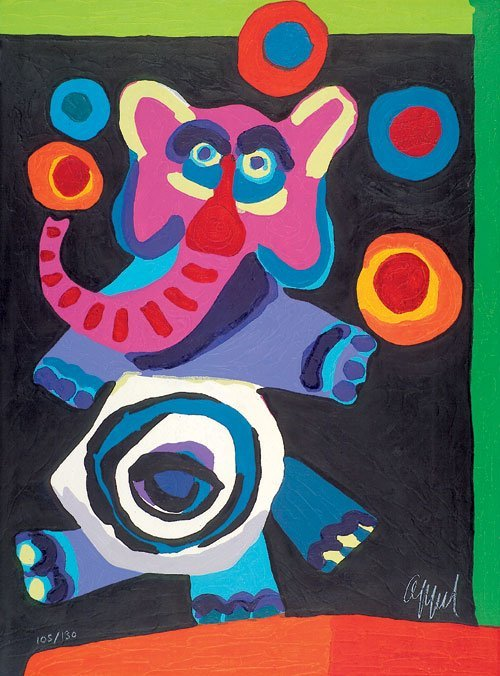 6510: Appel, Karel: Circus (Jonglierender Elefant)
