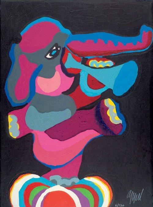 6512: Appel, Karel: Circus (Tanzender, Trompete spielen