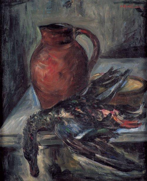 6517: Aschheim, Isidor: Stilleben mit Ente und Tonkrug