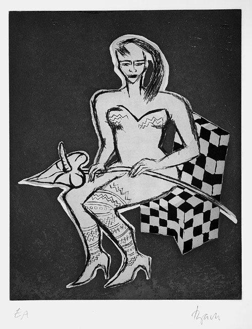 6522: Bach, Elvira: Frau mit Anthurium