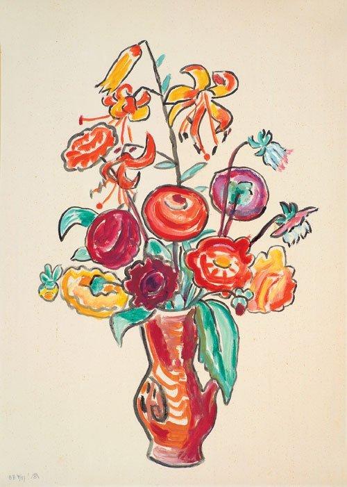 6842: Münter, Gabriele: Blumenstilleben mit Tigerlilien