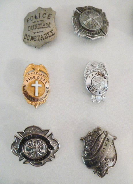 COLLECTION OF VINTAGE BADGES FIRE, DEPUTY SHERIFF ETC. - 2