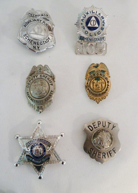 COLLECTION OF VINTAGE BADGES FIRE, DEPUTY SHERIFF ETC. - 3