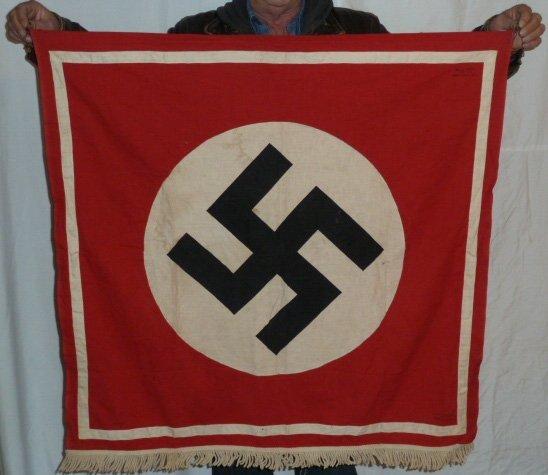 NAZI NSDAP PODIUM BANNER FAHNEN - LOSTER KOLN