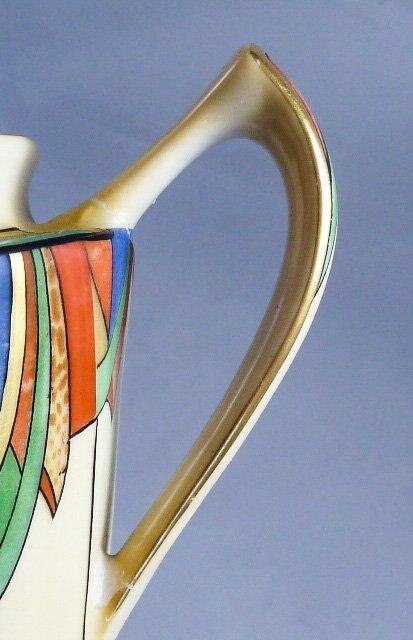 ROYAL ROCHESTER MODERNISTIC COFFEE POT SUGAR & CREAMER - 8