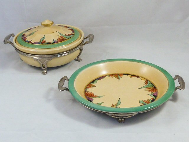 ROYAL ROCHESTER MODERNISTIC PIE PLATE & CASSEROLE