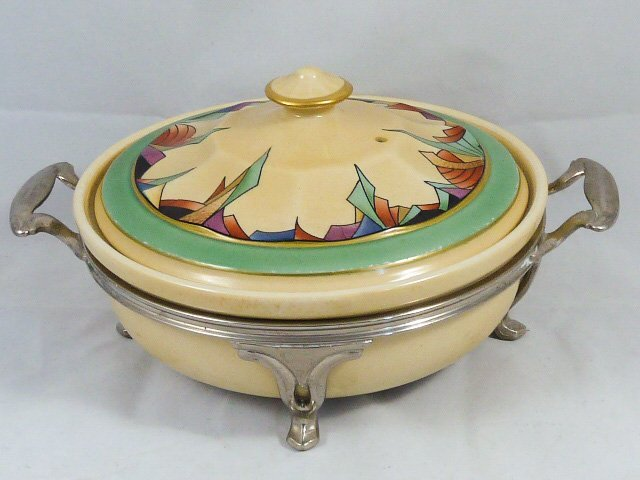 ROYAL ROCHESTER MODERNISTIC PIE PLATE & CASSEROLE - 2