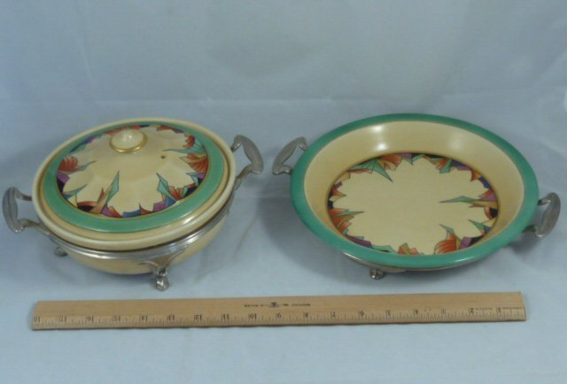 ROYAL ROCHESTER MODERNISTIC PIE PLATE & CASSEROLE - 9
