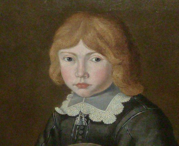 17TH CENTURY O/C PORTRAIT YOUNG BOY IN PERIOD DRESS