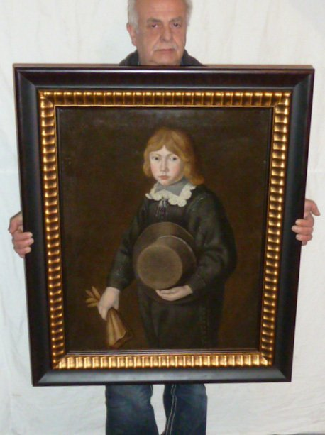 17TH CENTURY O/C PORTRAIT YOUNG BOY IN PERIOD DRESS - 2