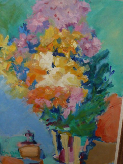 YUE GEE O/C MODERNE STILL LIFE FLOWERS ON TABLE - 2