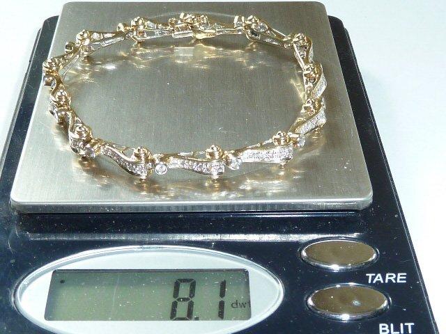 14KT GOLD & DIAMOND TENNIS BRACELET - 4