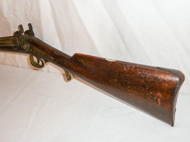 19TH C. DOUBLE BARREL LONG RIFLE - LONDON TWIST - 3