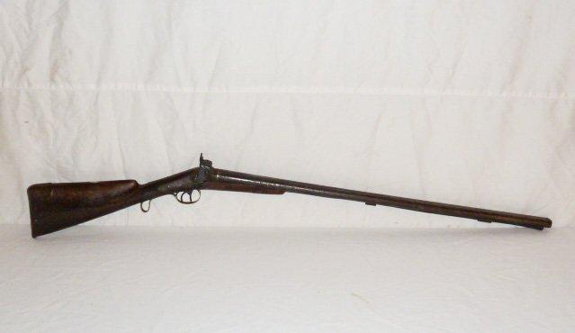 19TH C. DOUBLE BARREL LONG RIFLE - LONDON TWIST - 6