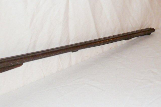 19TH C. DOUBLE BARREL LONG RIFLE - LONDON TWIST - 9