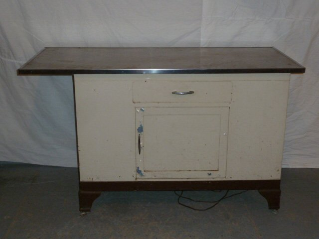 1930'S INDUSTRIAL ERA DR. CABINET STAINLESS STEEL TOP