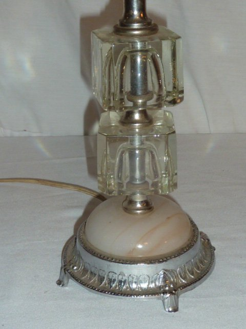 1930'S TWO PROP AIRPLANE ART DECO ACCENT LIGHT - 3