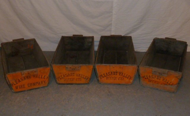 C1900 FOUR WOOD HANDLED BINS PLEASANT VALLEY WINE CO. - 3