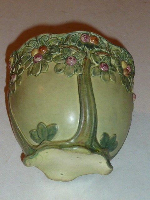 ARTS & CRAFTS ERA ART POTTERY PLANTER ROSEVILLE - 2