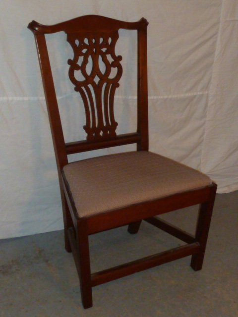 CHIPPENDALE SIDE CHAIR SPLAYED FRONT MARLBORO LEGS