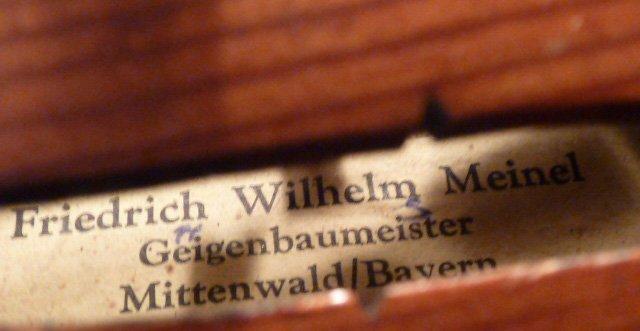 FRIEDRICH WILHELM MEINEL GERMAN VIOLIN CASE W/BOW - 7