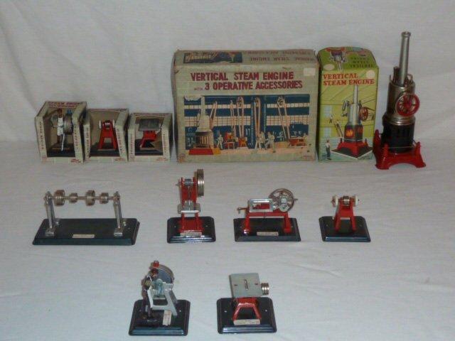 LINEMAR VERTICAL STEAM ENGINE BOXED + 6 ACCESSORIES