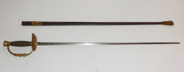 M 1860 CIVIL WAR OFFICER SWORD BAKER & McKINNEY